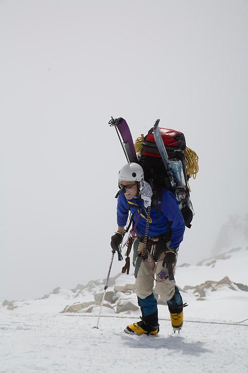 Bob Greely on the way to Denali Pass, doing the Muldrow Traversse, Denali National Park, Alaska
