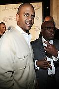 l to r: Shakir Stewart and LA Reid at The Jermaine Dupri Birthday Celebrration held at Tenjune in New York City on September 23, 2008