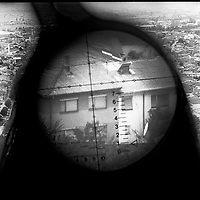 German NATO sharp-shooters took over Serb sniper positions to watch over the town of Prizren, Kosovo, after NATO troops entered the province in June, 1999.