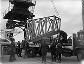 1962 - Oil drilling equipment arrives at North Wall, Dublin