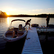 The end of another summer day of boating in Northern, Wisconsin.