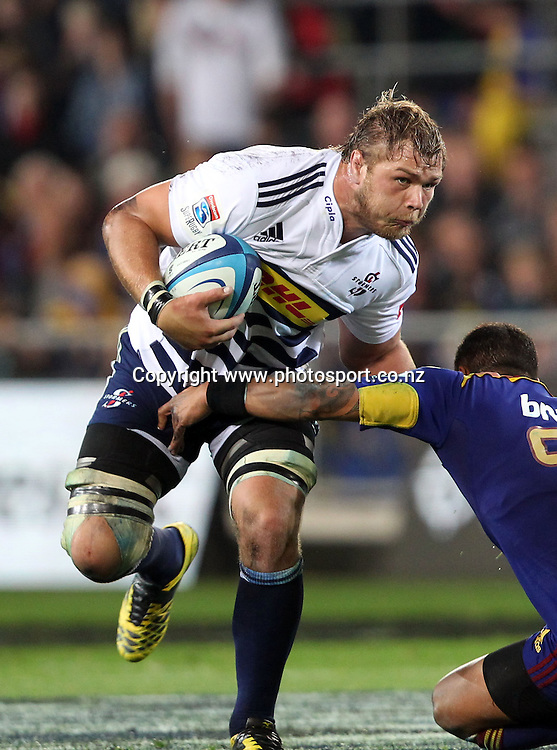 Nick Koster on the charge for the Stormers.<br /> Investec Super Rugby - Highlanders v Stormers, 7 April 2012, Forsyth Barr Stadium, Dunedin, New Zealand.<br /> Photo: Rob Jefferies / photosport.co.nz