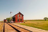 Big Horn County Historical Museum, Hardin, Montana, historic Lodge Grass Depot, school class visit.