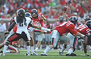 Mississippi kicker Andrew Ritter (96) makes a field goal vs. Southeast Missouri State at Vaught-Hemingway Stadium in Oxford, Miss. on Saturday, September 7, 2013. (AP Photo/Oxford Eagle, Bruce Newman)