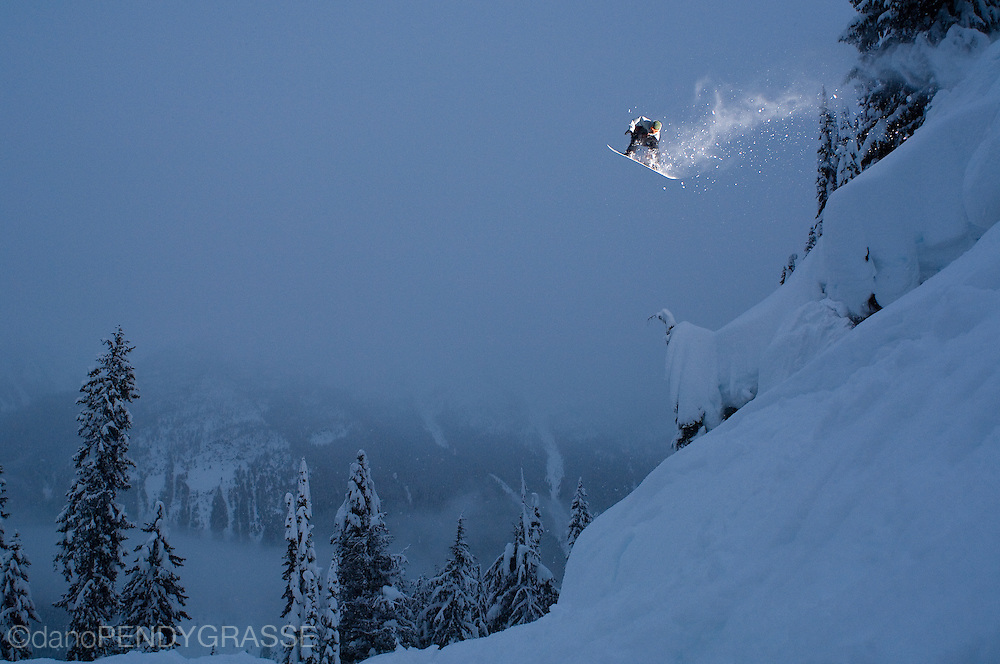 Professional Snowboarder Lukas Huffman finds the light in the British Columbia backcountry