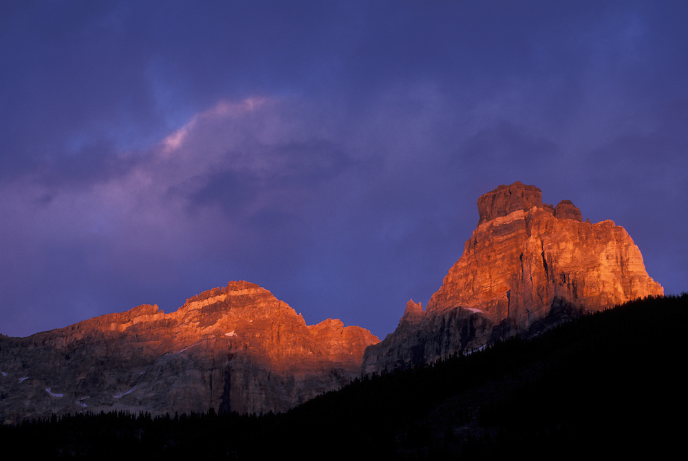 Cathedral Crags, Yoho National Park, British Columbia, Canada