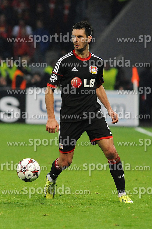 27.11.2013, BayArena, Leverkusen, GER, UEFA CL, Bayer Leverkusen vs Manchester United, Gruppe A, im Bild Emir Spahic ( Bayer 04 Leverkusen / Freisteller ) // during UEFA Champions League group A match between Bayer Leverkusen vs Manchester United at the BayArena in Leverkusen, Germany on 2013/11/28. EXPA Pictures &copy; 2013, PhotoCredit: EXPA/ Eibner-Pressefoto/ Thienel<br /> <br /> *****ATTENTION - OUT of GER*****