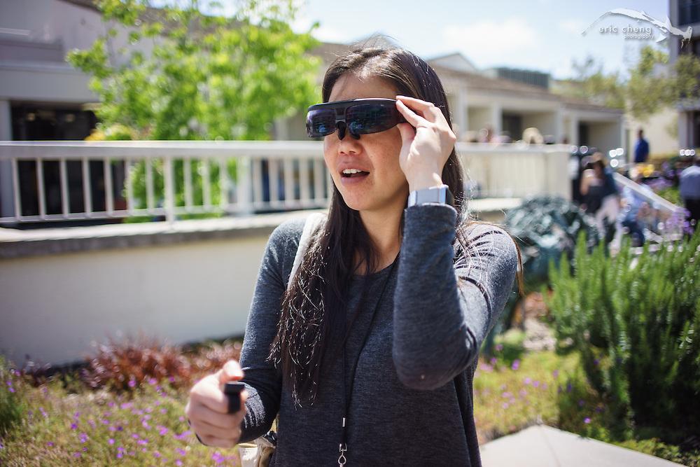 Pam tries ODG smart glasses