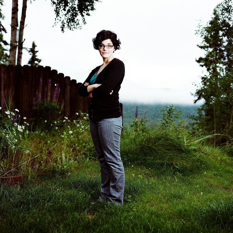EAGLE RIVER, ALASKA - 2008: Alaska socialist Joelle Brown for Venus Zine.