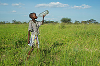 The Bushmen have returned to the village of Malopo in the Central Kalahari Game Reserve after winning a long court battle against the Botwana government who were responsible for forcibly removing them in the early 90's. In January 2011 they won an appeal to allow them access to water via boreholes inside the CKGR.