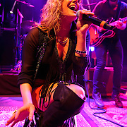 WASHINGTON, DC - October 22nd, 2012 - Grace Potter and Benny Yurco of Grace Potter and the Nocturnals perform during the first of four concerts booked this week at the 9:30 Club in Washington, D.C. The band released their fourth album, The Lion the Beast the Beat, in June. (Photo by Kyle Gustafson/For The Washington Post)