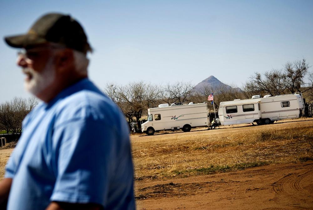 Minutemen in Arizona on the US-Mexico border..Photographer: Chris Maluszynski /MOMENT