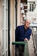 Antonio Tabucchi, italian professor and writer in his home in Lisbon.