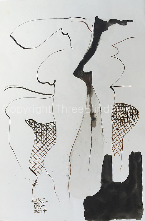 Laki Senanayake.<br /> Untitled. December 2014<br /> WC on paper. 15&quot; x 22&quot;<br /> <br /> 200