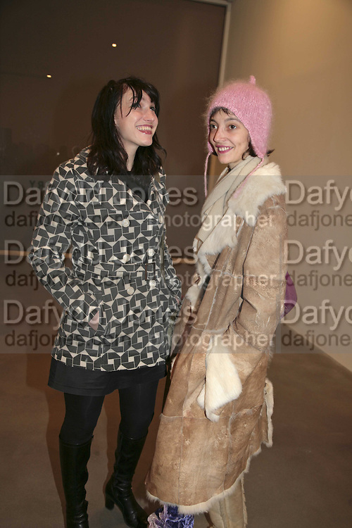 Anna Mercedes and Carole des Bois, Dexter Dalwood, Gagosian Gallery. 14 December 2006. ONE TIME USE ONLY - DO NOT ARCHIVE  © Copyright Photograph by Dafydd Jones 248 CLAPHAM PARK RD. LONDON SW90PZ.  Tel 020 7733 0108 www.dafjones.com