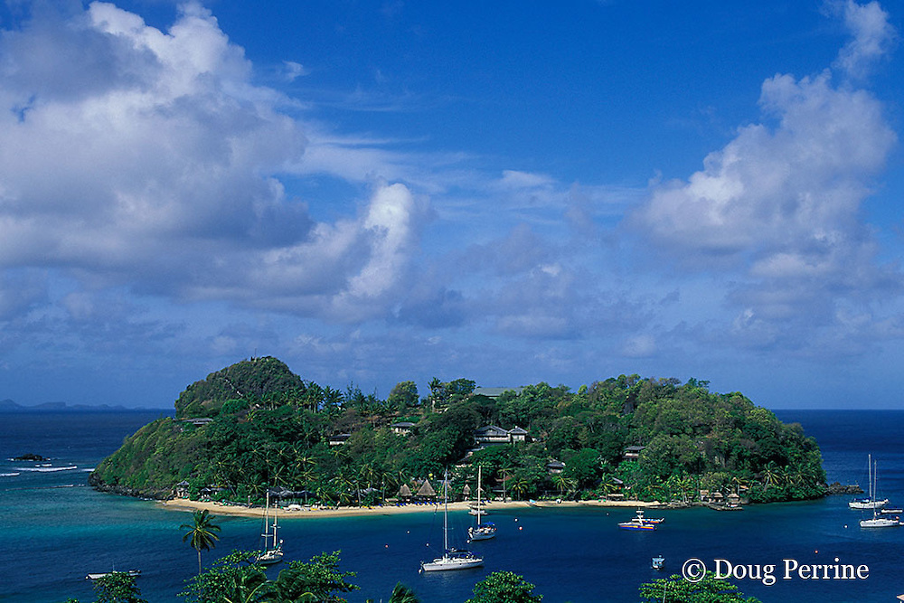 Young Island, Saint Vincent,  St. Vincent & the Grenadines, West Indies ( Eastern Caribbean Sea )