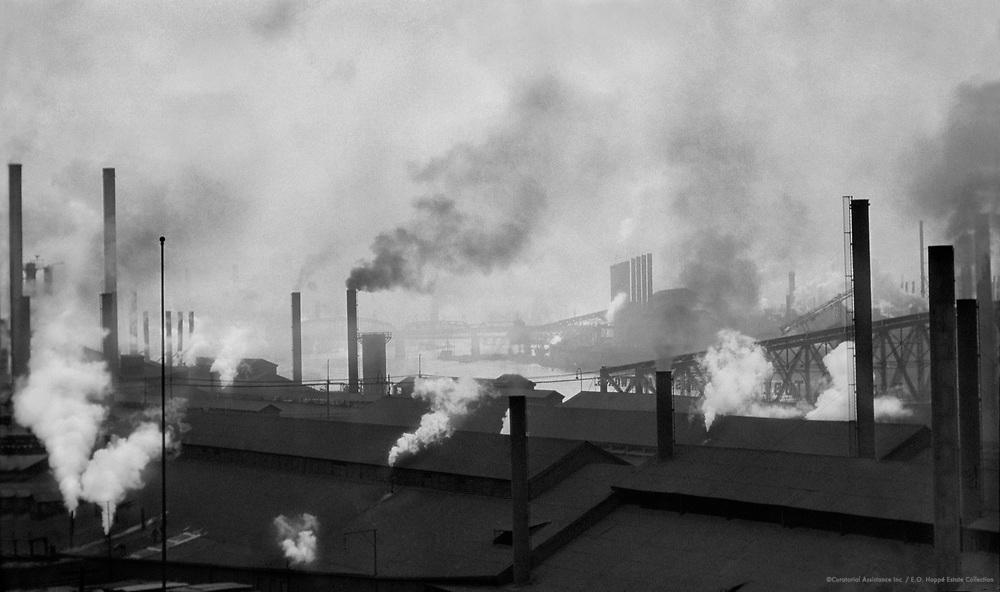 Rooftops and smoking chimneys, Pittsburgh, Pennsylvania, 1926
