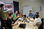 Getup office in Sydney with National Director Simon Sheikh (centre) and the team at Getup.