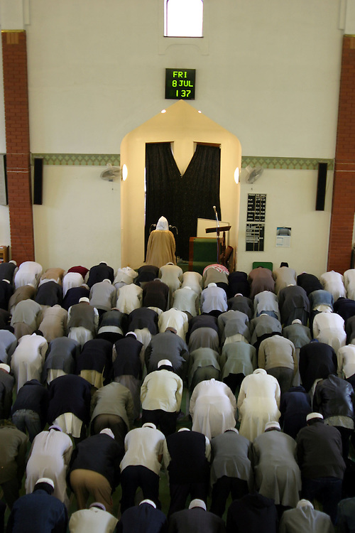 At the Whitechapel Mosque, on the 8th of July 2005