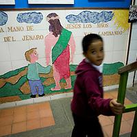 La Escuela Basica Jenaro Aguirre Elorriaga, fundada por la Madre Maria Luisa Casar, se encuentra ubicada en el sector 24 de marzo de la Bombilla de Petare. Su mision es rescatar ninos y jovenes descolarizados y marginados para educarlos con una vision global humana, mas justa y solidaria y de esta manera, incorporarlos al Sistema Educativo Regular. (ivan gonzalez)