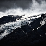 A view of of the western side of Eyjafjallajökull