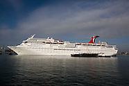 Carnival Inspiration docks at Port of Long Beach