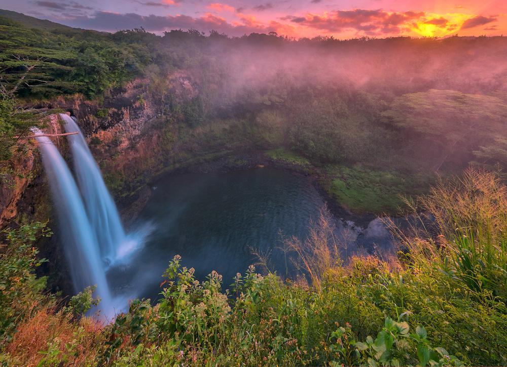 USA, Hawaii, Kauai, Lihue,Wailua Falls