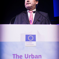 Brussels, Belgium 9 October 2014<br /> Urban Development Network conference.<br /> Johannes Hahn, European Commissioner for Regional Policy.<br /> Photo: Ezequiel Scagnetti