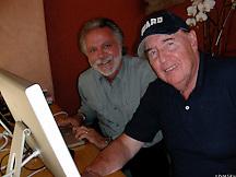 Wayne with Creative Director Bill McCaffrey on location for GE Monogram, Los Angeles
