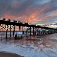 NC00575-00...NORTH CAROLINA - Kure Beach Pier at sunrise.