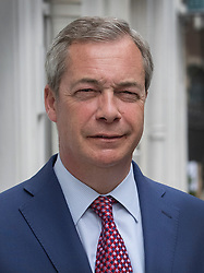© Licensed to London News Pictures. 20/04/2017. London, UK. Former UKIP leader Nigel Farage is seen near Parliament before he announced that he will not contest a seat in the geneneral election on June 8th 2017. Photo credit: Peter Macdiarmid/LNP
