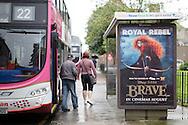 Disney Pixar Brave movie adshells photographed in Edinburgh for Clear Channel UK.