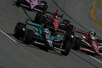 Dario Franchitti, Scott Dixon, Marco Andretti, JR Hildebrand, Kentucky Indy 300, Kentucky Speedway, Sparta, KY USA 10/2/2011