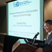 Tsu-Wei Chou delivers a presentation to the American Society of Mechanical Engineers conference at the Manchester Grand Hyatt in San Diego. Photography by Dallas event photographer William Morton of Morton Visuals event photography.