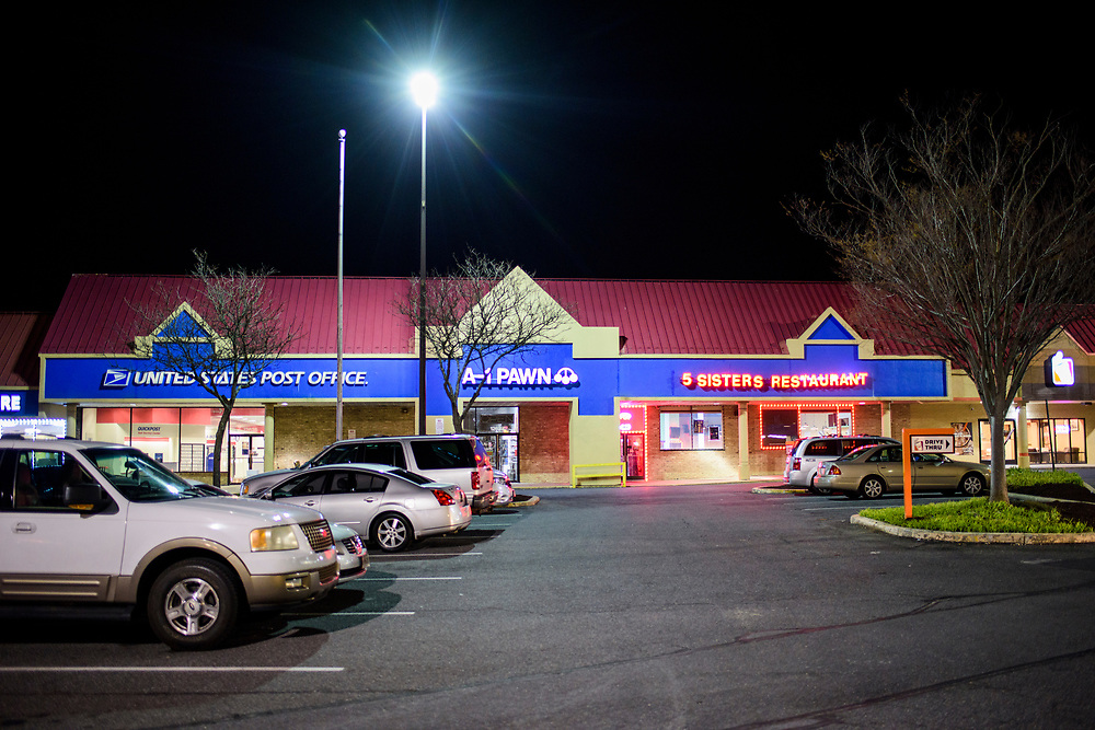 Laurel, Maryland - March 29, 2017: Charles &quot;Chuckie Craig&quot; was killed on a rainy night after being shot four-times in the back of his head at close range by Terrell Bush in the parking lot outside J's Sports Cafe -- now 5 Sisters Restaurant -- in the 12600 block of Laurel-Bowie Road, April 30th, 2005. Craig was 35. Bush fled to Georgia and was apprehend in 2006. He is currently serving life in prison plus 20 years in Cumberland, Md.<br /> <br /> <br /> NBA Superstar Kevin Durant's jersey number &quot;35&quot; is a tribute to his rec. league coach and mentor Charles &quot;Chuckie&quot; Craig, who was gunned down in at a night club in Laurel, Md., in 2005 when he was 35 years old. <br /> <br /> CREDIT: Matt Roth for The New York Times<br /> Assignment ID: 30204524A