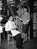 1961 - Handmade Sweater and Knitter at Donegal Shop.  B999.