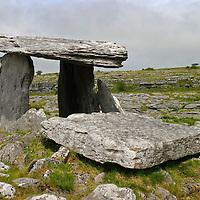 Europe, Ireland, Kilcorney. Poulnabrone Dolmen, a National Monument of Ireland.