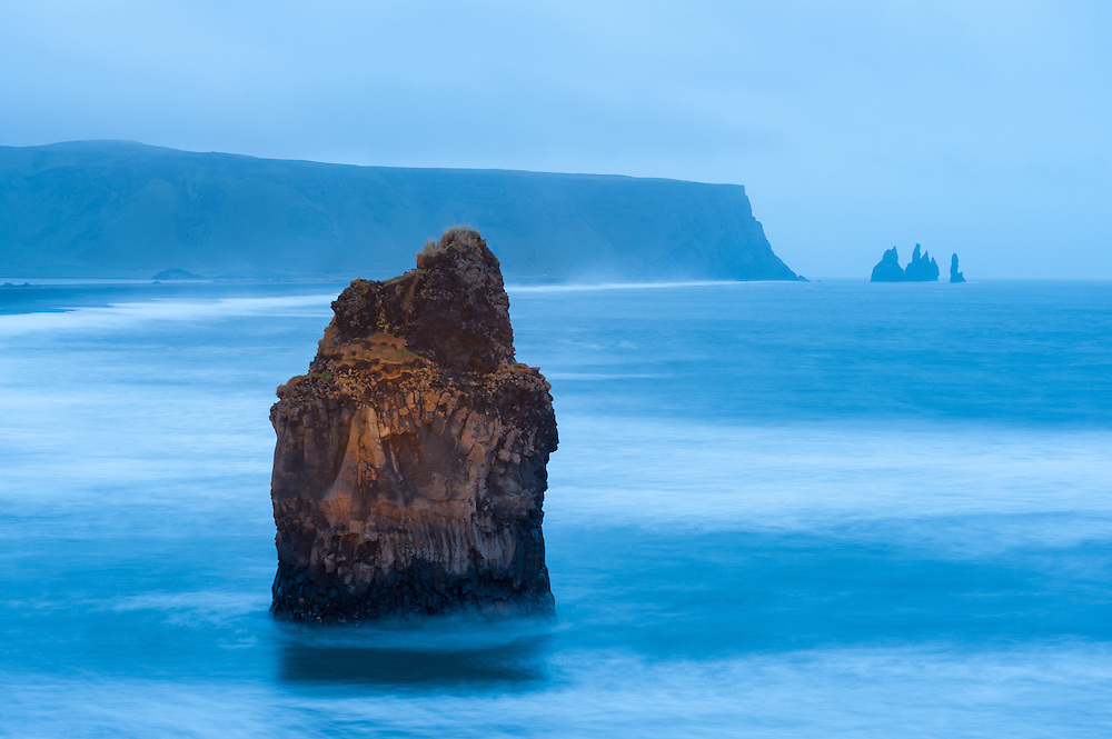 Stack on the beach at Dyrholaey, Iceland