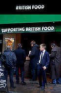 British Food Restaurant at Borough Market, Southwark, London, Great Britain, UK