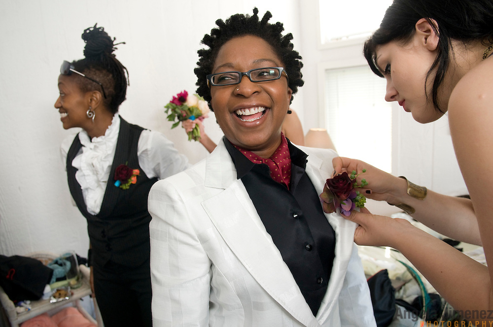 The wedding of Lisha and Jessica in Fire Island, New York on June 8, 2009. It was a lesbian, same-sex wedding held at a house on the beach.