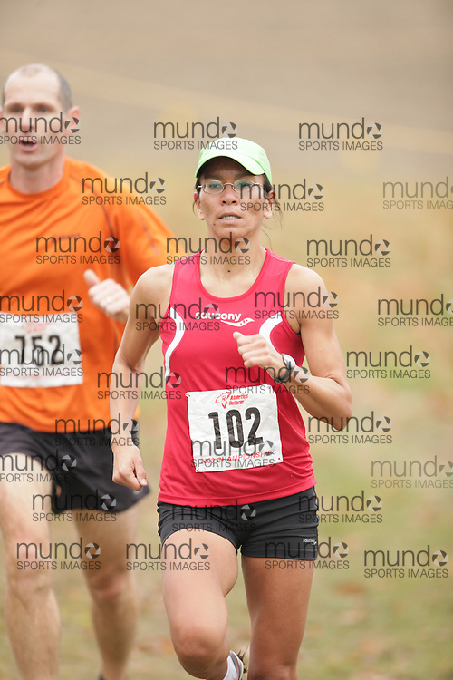 King City, Ontario ---09-11-15--- Melanie Boultbee of the 7Systems competes at the Athletics Ontario Cross Country Championships in King City, Ontario, November 16, 2009..GEOFF ROBINS Mundo Sport Images