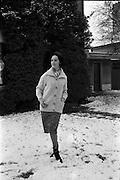 27/12/1962<br /> 12/27/1962<br /> 27 December 1962<br /> Orla N&iacute; Sh&iacute;ochain, Dublin Model working in Paris home for Christmas at Rathfarnham Park, Dublin.