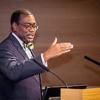 Akinwumi Adesina, President of the African Development Bank Group (AfDB), during The Royal African Society's Annual Lecture 2016. Akinwumi Ayodeji Adesina is the 8th elected President of the African Development Bank (AfDB). He is a distinguished development economist and agricultural development expert with 25 years of international experience. London, Friday 21 October 2016.(Photos/Ivan Gonzalez)