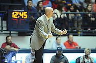 """Mississippi head coach Andy Kennedy reacts vs. Missouri at the C.M. """"Tad"""" Smith Coliseum in Oxford, Miss. on Saturday, February 8, 2014. (AP Photo/Oxford Eagle, Bruce Newman)"""