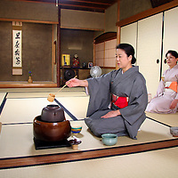 Asia, Japan, Kyoto. Tea Ceremony demonstration in a private home in Kyoto.