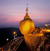 Kyaiktiyo Pagoda. The Golden Rock religious shrine, Myanmar.