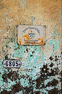 Wall in Consolacion del Sur, Pinar del Rio Province, Cuba.
