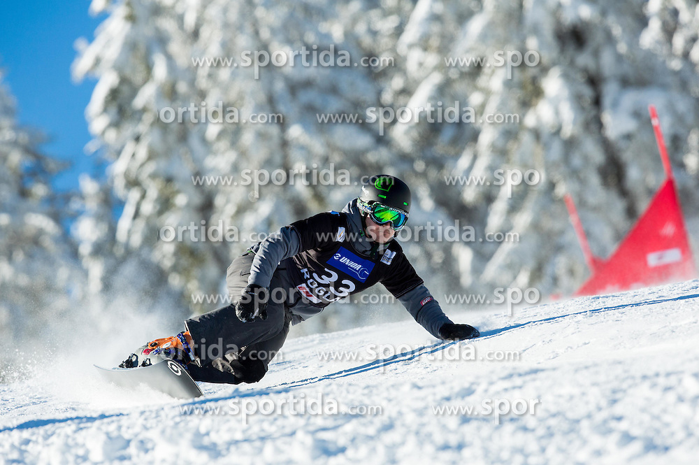 Jernej Demsar of Slovenia competes during Qualification Run of Men's Parallel Giant Slalom at FIS Snowboard World Cup Rogla 2015, on January 31, 2015 in Course Jasa, Rogla, Slovenia. Photo by Vid Ponikvar / Sportida