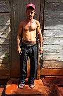 Man with machete on a farm in Vega Yumuri, near La Maquina, Guantanamo Province, Cuba.