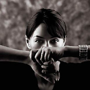 Woman Artistic B&W portrait photography. Beautiful women.